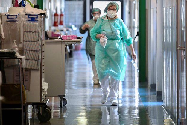 Le personnel hospitalier à Crémone, en Italie, le 19 mars 2020.