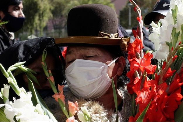 Enterrement à La Paz, en Bolivie, le 3 juillet 2020.