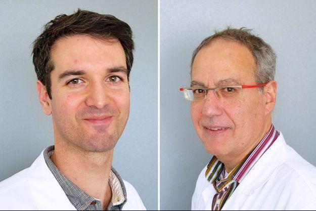 Les Drs Ilyess Zemmoura et Eric Fournier.
