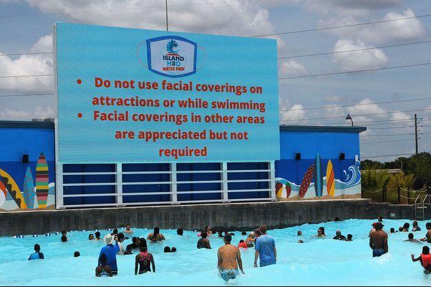 A Kissimmee, en Floride, ce parc aquatique accueille à nouveau le public depuis samedi, avec toutefois quelques mesures de précaution et de filtrage.