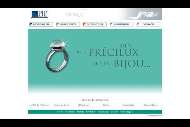 Le site web de Poly Implant Prothèse (PIP)