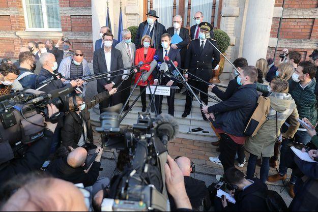 Le ministre de la Santé Olivier Véran a annoncé les nouvelles mesures à Dunkerque.
