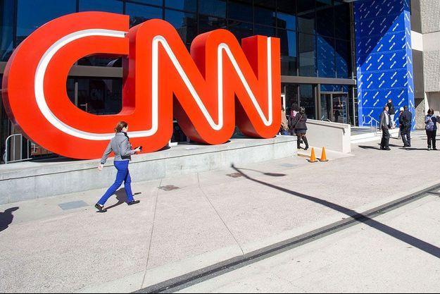 Devant le siège de CNN à Atlanta, en Géorgie, en octobre 2018.