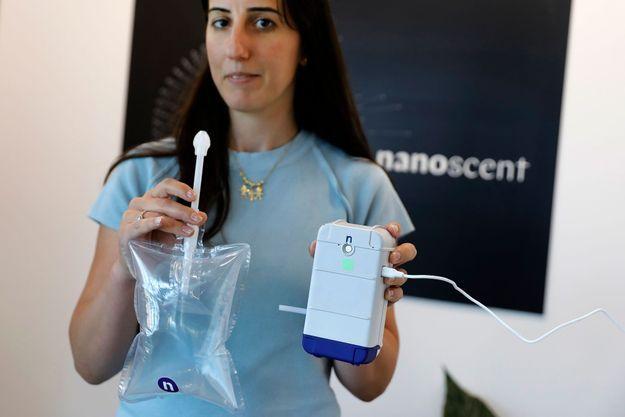 Le test de la start-up NanoScent.