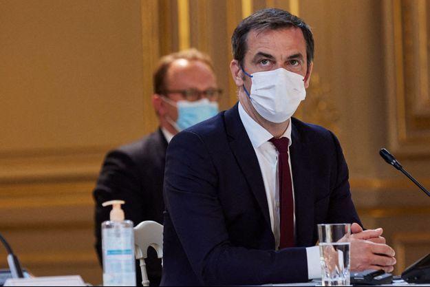 Olivier Véran ici lors d'une visio-conférence à l'Elysée.