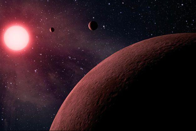 Illustration d'une des dix planètes récemment détectée par la Nasa.