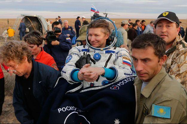 Gennady Padalka à la sortie de la navette