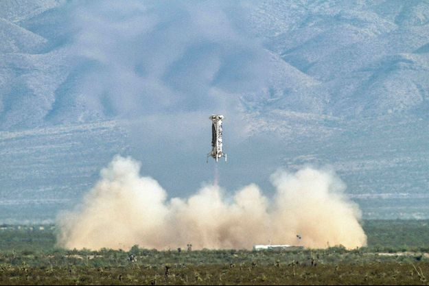 La fusée New Shepard de Blue Origin.