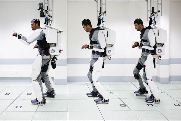 Paralysé, Thibault parvient aujourd'hui à diriger par la pensée les mouvements d'un exosquelette.