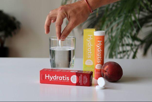 La start-up française Hydratis a mis au point ces pastilles effervescentes.