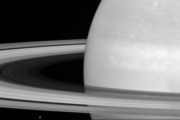 La planète Saturne.