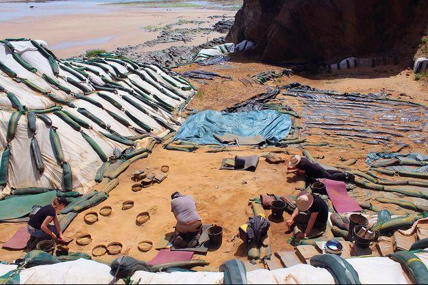 Les empreintes ont été trouvées à Rozel en Normandie.