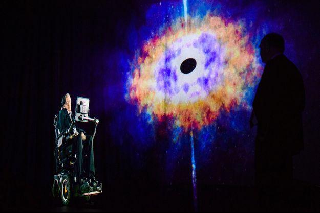 Un hologramme de Stephen Hawking.