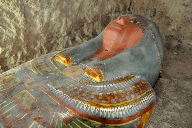 La momie découverte par des archéologues espagnols.