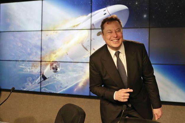 Le 19 janvier 2020, Elon Musk lors d'une conférence de presse à Cape Canaveral.