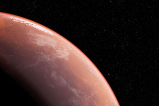 Illustration de la planète Mars.