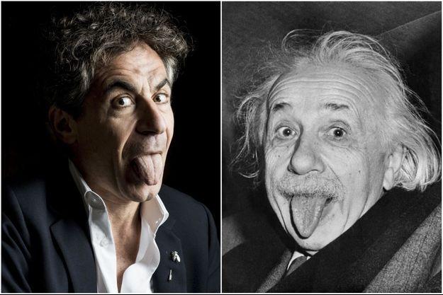 Etienne Klein et Albert Einstein.