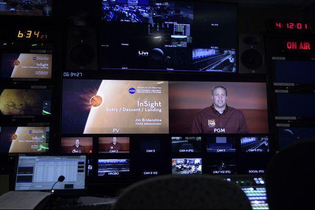 Jim Bridenstine, administrateur de la NASA, s'exprime au sujet de InSight, le 26 novembre 2018