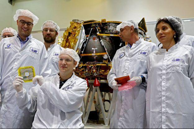 Des scientifiques israéliens ont présenté une capsule temporelle le 17 décembre 2018 à Yhud.