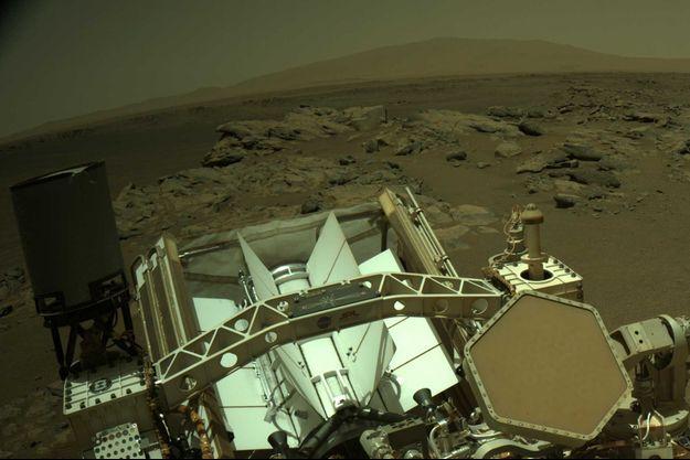 Le robot Perseverance sur Mars.