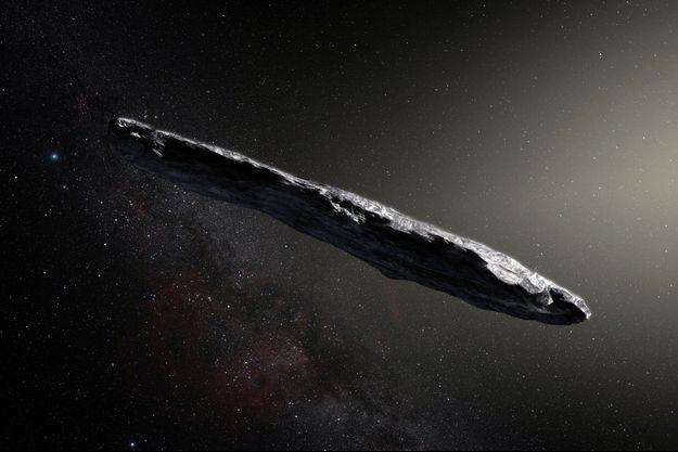"""""""Oumuamua"""", l'astéroïde détecté en octobre 2017 provenant d'un autre système planétaire"""