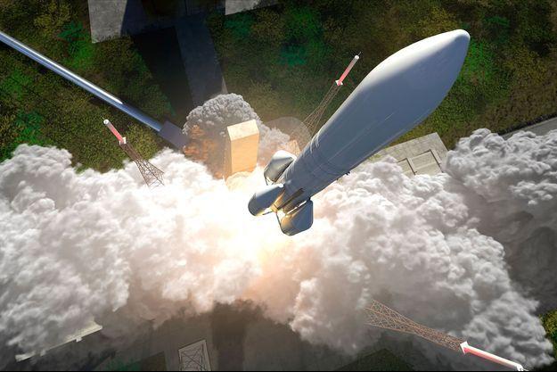 Illustration du décollage de la future fusée Ariane 6