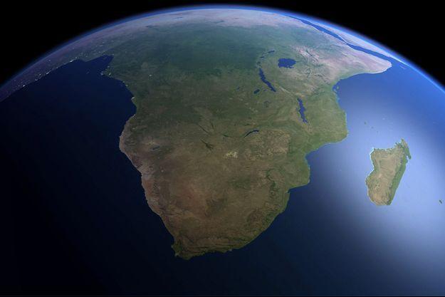 Vue d'artiste du continent africain.