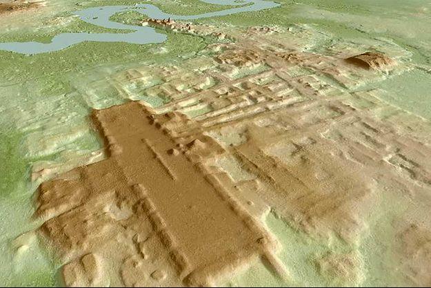 La construction maya découverte.