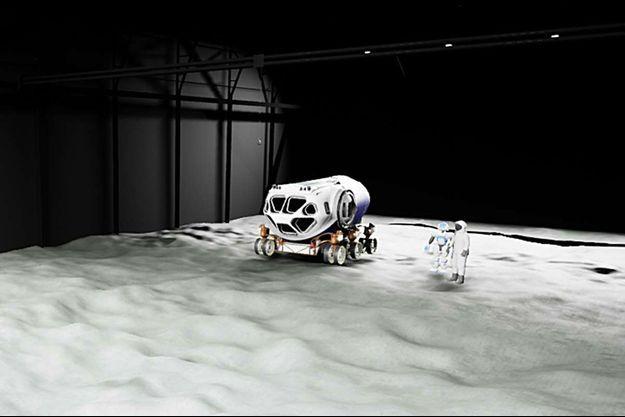 Images de synthèse de la Lune.