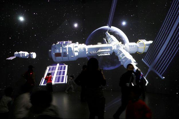 Illustration de la future station spatiale chinoise.