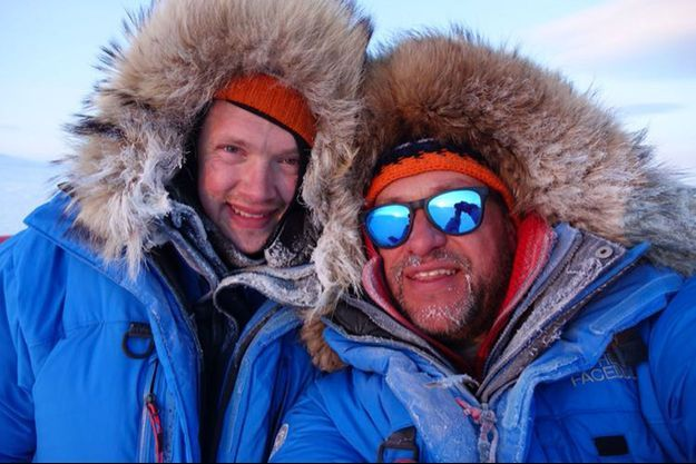 Marc Cornelissen et Philip de Roo pendant leur expédition.