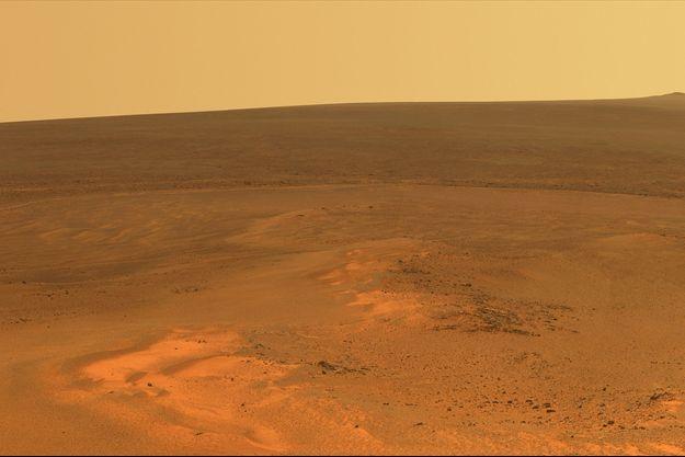 Vue de la surface de la planète Mars.