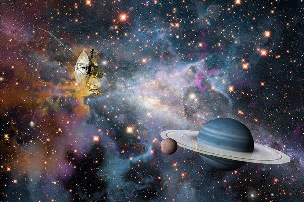 Illustration de la sonde Voyager-2.