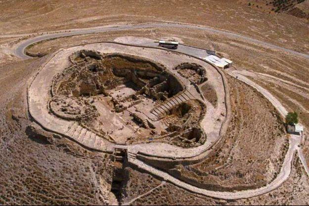 Vue aérienne du palais d'Hérode.