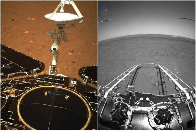 Le robot Zhurong sur Mars.