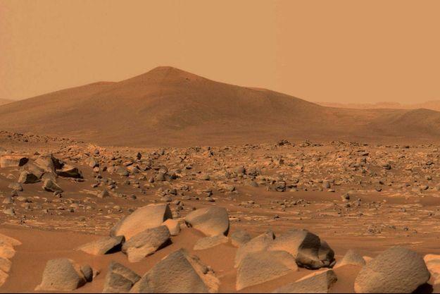 Les roches de la planète Mars.
