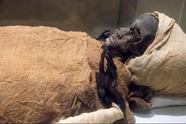 La momie du pharaon Séqénenrê Taa II.