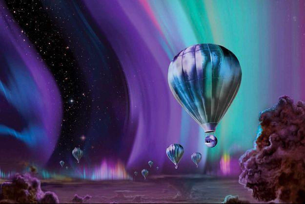 Une vision du tourisme spatial sur Jupiter, imaginée et dessinée par la Nasa.