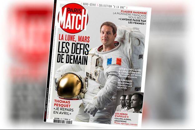 Thomas Pesquet en couverture de notre hors-série « La Lune, Mars : les défis de demain ».
