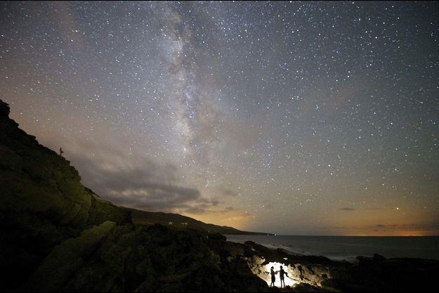 La Voie Lactée pendant les Delta Aquarides Sud.