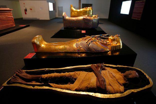 La momie de Toutankhamon exposée début janvier à Lisbonne, Portugal.