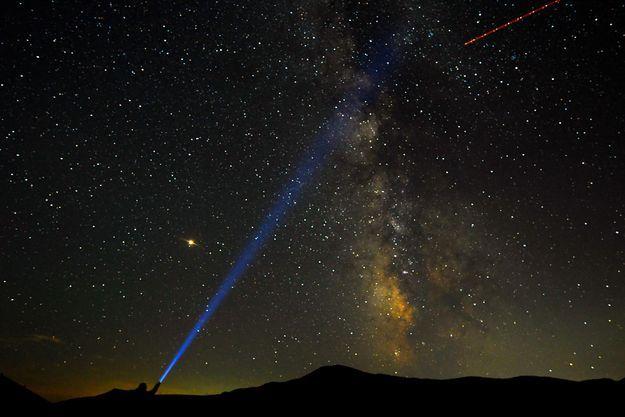 La Voie lactée photographiée pendant la nuit des Perséides.