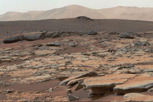 Sur Mars.
