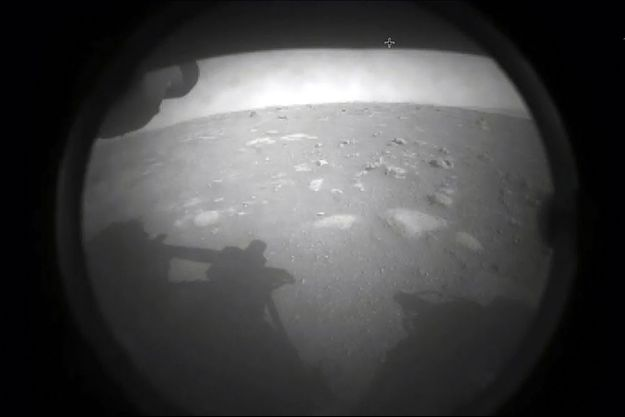 Le sol martien vu par Perseverance.