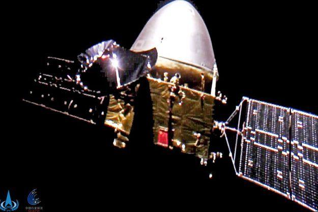 La sonde Tianwen-1 a transporté le robot chinois sur Mars.