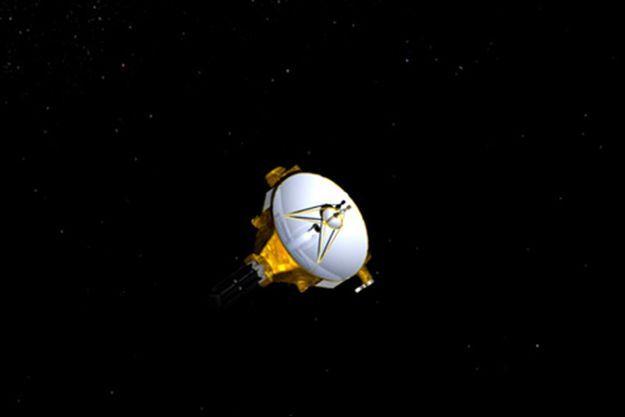 Vue d'artiste de la sonde New Horizons.
