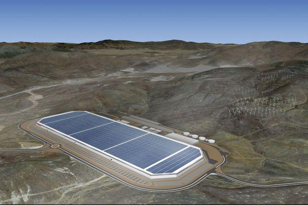 Elon Musk bâtit au Nevada Tesla Gigafactory, l'usine qui va changer le monde