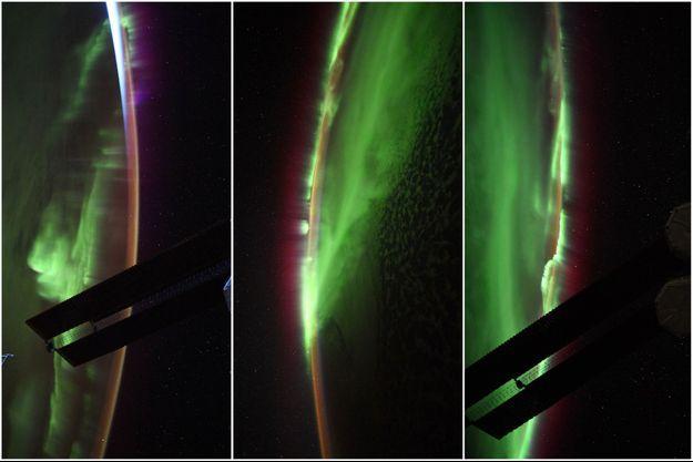 Des aurores australes photographiées par Thomas Pesquet.