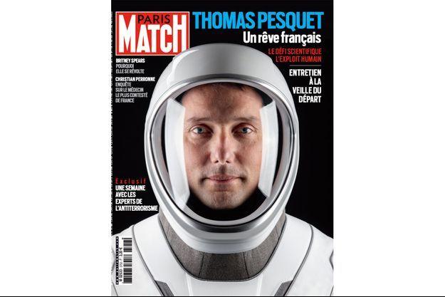 Thomas Pesquet dans son scaphandre SpaceX.
