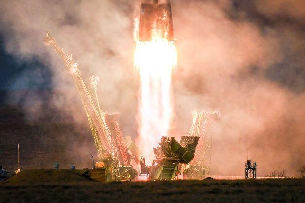 La fusée Soyouz depuis le cosmodrome de Baïkonour.